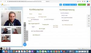 Virtuelles Klassenzimmer-Bild Sprachschule aktiv Hamburg